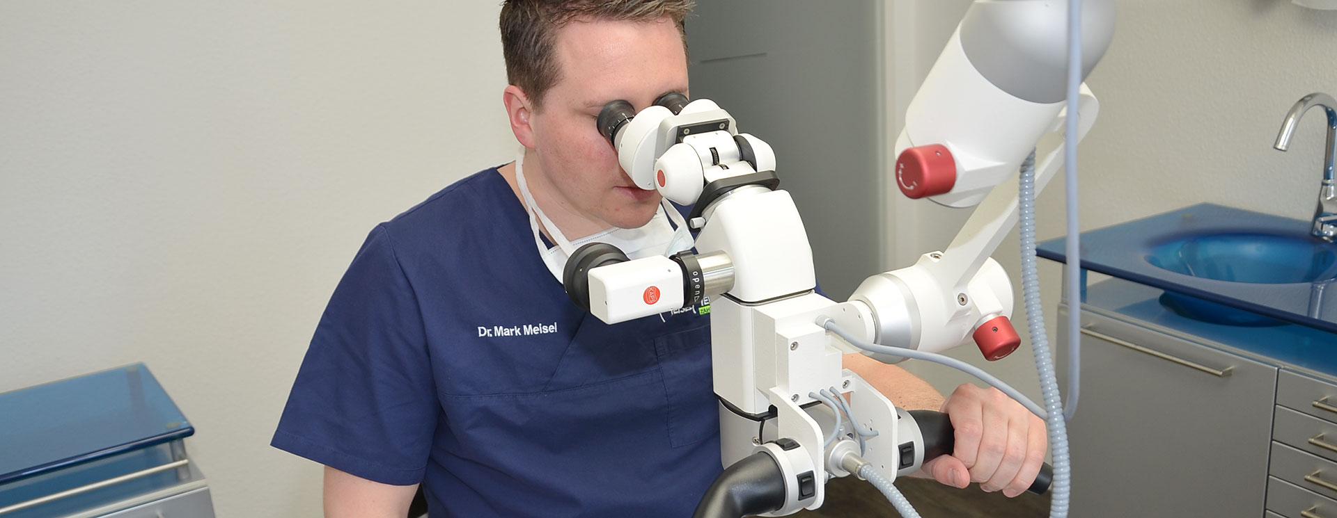 Wurzelbehandlung mit OP Mikroskop - Zahnarztpraxis Dr. Meisel Nürnberg